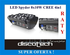 Zdjęcie LED Spyder Moving Head 8x10W CREE 4in1 RGBW GŁOWA