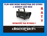 FLM 600 mini maszyna do dymu DIODY LED RED RATY