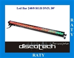 LED BAR 240 / 8 RGB 30° DMX 512 STAIRVILLE RATY