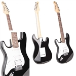 GITARA ELEKTR. CAREER STRAT BLACK-PALISANDER LEFT